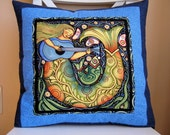 Mermaid, Oceanica, Sea Folk, Pillow - chimeracustomquilts