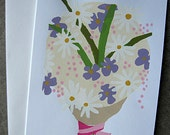 Bouquet of Flowers Blank Greeting Card, Flowers Greeting Card, Blank Greeting Card, Bouquet