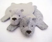 Bear Rug Coaster (Set of Two)
