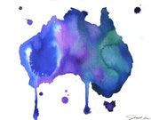 Watercolor Travel Illustration - Australian Dreams print