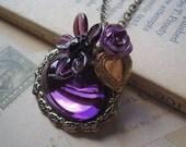 OOAK Purple Rain - Necklace - CeeMonkeyDo