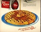 vintage 1949 advertisement log cabin syrup waffle