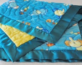 Baby Cuddle Quilt  Elephants ultra cuddle fleece quilt