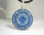 Blue White Gzhel Necklace, Russian Folk Art