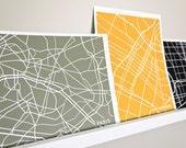 Custom City Map Art Print / Choose your City & Color / 8x10