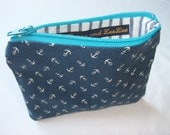 Blue white anchor purse