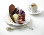 ONLY AVAILABLE AFTER The Summer Dark Chocolate 3D Hearts (Three 3D Hearts)