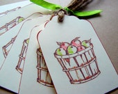 Apple Harvest Gift Tags - Thanksgiving Favors - Wedding Favors
