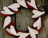 Vintage Paper Hearts Wreath