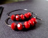 Red Ruby True Blood Hoops - 13Alternatives