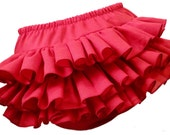 Red Ruffle Baby Newborn Diaper Cover Bloomer Bloomers Fancy Pants Panty for Christmas Valentine by Bloomin' Bloomers