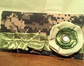 Ruffled Camo Checkbook Cover - ACU, ABU, Desert, NWU - lots of options
