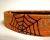 Dog Collar: Halloween Spiders With Sparkles