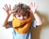 kids vegan friendly barrel cowl in MUSTARD SPICE (hypoallergenic) - last one