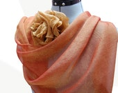 Scarf and Rose Chiffon Set