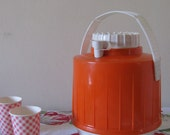 neat-o orange and white picnic jug 60's