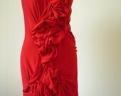 SALE 30% off Red Ruffle Dress