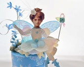 Winter Flower Fairy Paper Doll on Trinket Box