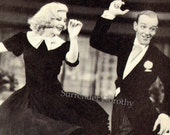 Fred Astaire Ginger Rogers Swing Time Dance Photo Illustration 1930s Black and White Classic Publicity Print To Frame