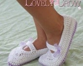 Crochet Pattern Toddler Mary Janes Shoes for - TODDLER RIBBON MARYJANES