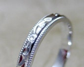 Vintage Wedding Band - 14K White Gold - Circa 1960's - from A Second Time