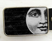 Belt Buckle Vintage Moon Halloween