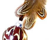 Christmas Tree Ornament - Holiday Decorations - Feathers - GIRAFFE