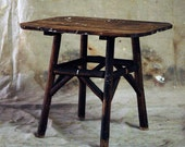 Antique Wood End Table .. Farm Hand