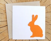 Rabbit - Paper cutting greeting card