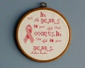Breast Cancer Inspirational Cross Stitch