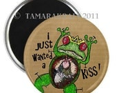 Frog Prince Dissection Magnet or Button - You Choose