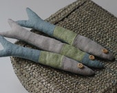 Ready to ship. 3 linen fishes