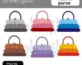 ruffle purse clip art