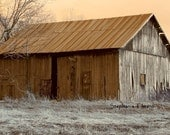 Barn, Rustic, Farm, Brown, Tan, 11x14 Canvas Wrap - Nature Photography - Other Sizes Available - 8daysOfTreasures