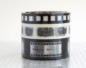 Film Camera Designs METALLIC BLACK Washi Paper Tape - Set of 3 NEW - PrettyTape