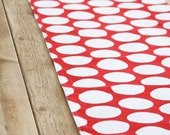 Table Runner: Red with White Dots
