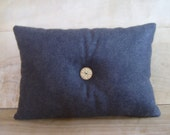 Charcoal Gray Wool Felt Pillow - RobinCottage