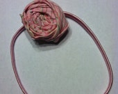 Pink with a Hint of Black Rosette Headband
