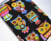 Kindle Fire cover Nook cover, Galaxy Tab  Sleeve Kindle case eReader cover  - Black Owl