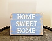 "Handmade Distressed ""Home Sweet Home"" Sign"
