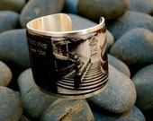 Faith is taking the first step...  -  Martin Luther King Jr. Quote on a Gold or Silver Cuff Bracelet  -  D6