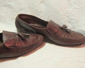 Vintage Classic Bally Brown Leather Men Tasseled Loafers Shoes Gifts for Him Mens Fashion Fathers Day
