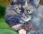 Hand Painted 8x10 Commissioned Pet Portrait Painting any Animal Artist Sharon Lamb