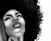 Natural Hair Large Fine Art Print - Lola