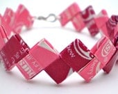 Starburst Recycled Candy Wrapper Bracelet - Great Stocking Stuffer