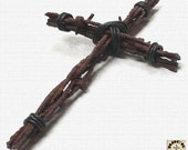 Rustic South Western Barbed Wire Cross - Rockrancher