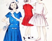 1960s Vintage Dress Pattern Girl's Size 8 Advance Uncut Complete