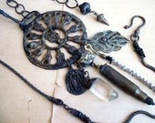 Saddle Gems III. Metaphysical Tribal Assemblage Necklace.