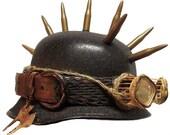 Chameleon Steampunk Army Biker Helmet Hat