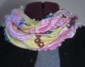 Infinity scarf in pink citrus spring